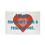I Share My Heart Rectangle Magnet (10 pack)