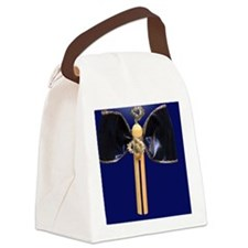 Blue Clothespin Angel Canvas Lunch Bag