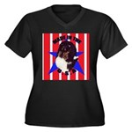 Sheltie - Made in the USA Women's Plus Size V-Neck