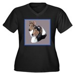 Smooth and Rough Collie Women's Plus Size V-Neck D