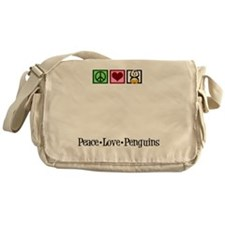 peacelovepenguinsplate Messenger Bag
