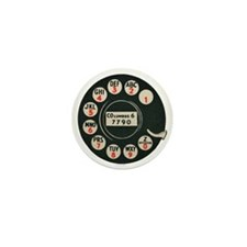 Retro Rotary Phone Mini Button