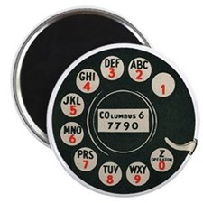 Retro Rotary Phone Magnet