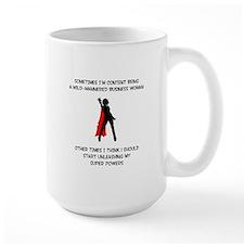 """Superheroine Business Woman"" Mugs"
