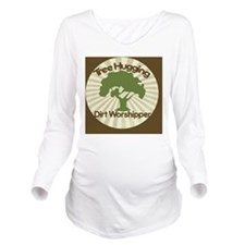 Tree Hugging dirt wo Long Sleeve Maternity T-Shirt