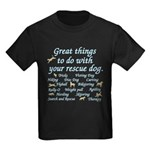 Great Dog Activities Kids Dark T-Shirt