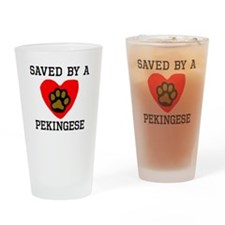 Saved By A Pekingese Drinking Glass