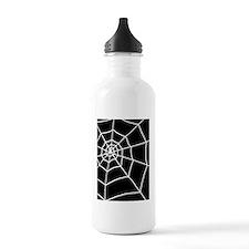 shower spider web blac Water Bottle