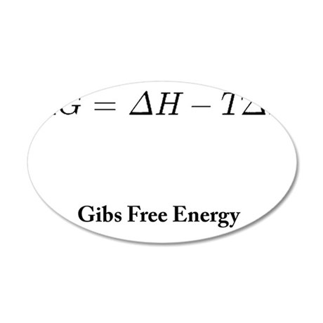 Gibs Free Energy 35x21 Oval Wall Decal