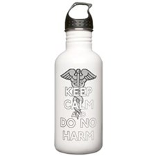 Keep  Calm Do No Harm Water Bottle