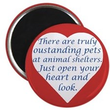 "Open Your Heart 2.25"" Magnet (100 pack)"
