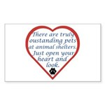 Open Your Heart Rectangle Sticker