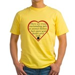 Open Your Heart Yellow T-Shirt