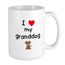 I love my granddog (3) Ceramic Mugs