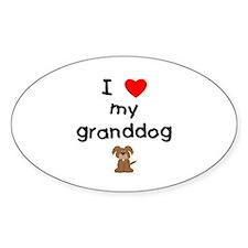 I love my granddog (3) Decal