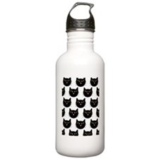 shower cats halloween  Water Bottle