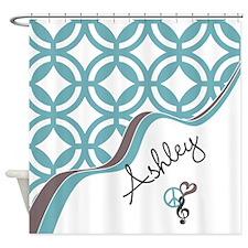Custom Name Pattern Shower Curtain