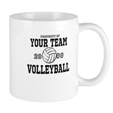 Personalized Property of Your Team Volleyball Small Mug