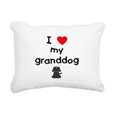 I love my granddog (4) Rectangular Canvas Pillow