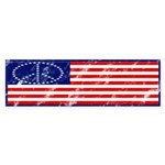 American Flag Peace Bumper Sticker