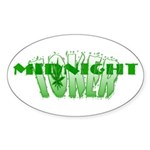 Midnight Toker Oval Sticker