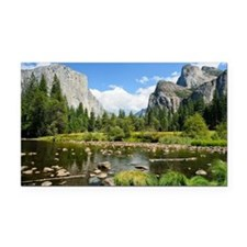 Valley View in Yosemite Natio Rectangle Car Magnet