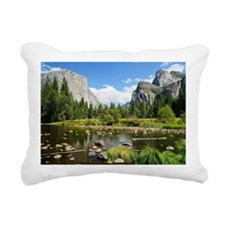 Valley View in Yosemite  Rectangular Canvas Pillow