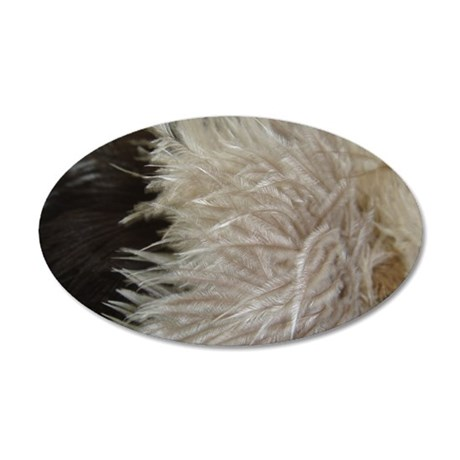 Ostrich Feathers 35x21 Oval Wall Decal