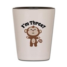 Monkey Im 3 Shot Glass