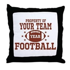 Personalized Property of Your Team Football Throw