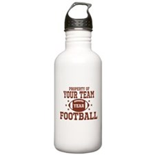 Personalized Property of Your Team Football Water