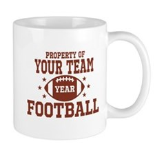 Personalized Property of Your Team Football Mugs