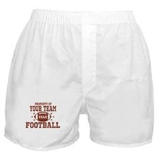 Personalized Property of Your Team Football Boxer
