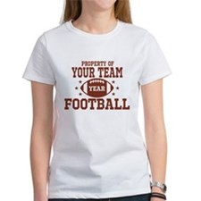 Personalized Property of Your Team Football T-Shir