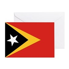 Timor-Leste Flag Greeting Card