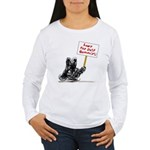 Save the Dust Bunnies! Women's Long Sleeve T-Shirt