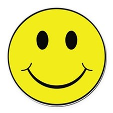 Smiley Face Round Car Magnet