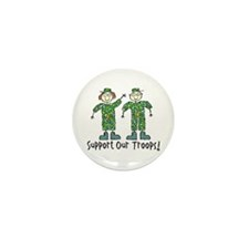 Support Our Troops Mini Button (10 pack)