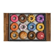 Box of Doughnuts 3'x5' Area Rug