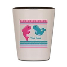 Cute Dolphin - Personalized Shot Glass