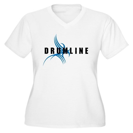 Drumline Women's Plus Size V-Neck T-Shirt