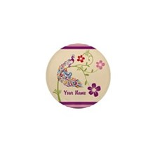 Personalized Elegant Peacock Mini Button (10 pack)