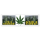 Stoner Vote Bumper Bumper Sticker