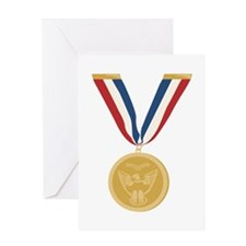 Gold Medal Of Honor Greeting Cards