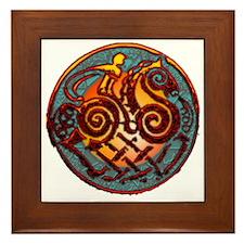 Odin, Odhin, god of the hunt Framed Tile