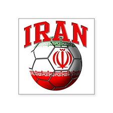 "Flag of Iran Soccer Ball Square Sticker 3"" x 3"""