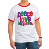 Peace, Love, Happiness T