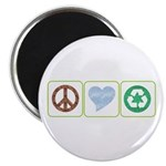 Peace, Love, Recycling Magnet