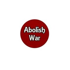 Abolish War small activist pin