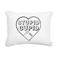 STUPID CUPID Rectangular Canvas Pillow